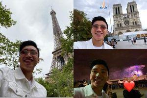 Văn Hậu 'lên đồ' du lịch Paris trước ngày về nước