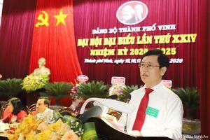 Đồng chí Nguyễn Xuân Sơn nêu 6 nhiệm vụ quan trọng để phát triển thành phố Vinh văn minh, hiện đại