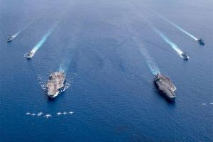 Hải quân Mỹ bất ngờ nối lại tập trận ở Biển Đông
