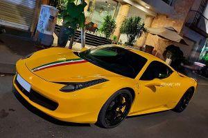 Cận cảnh siêu xe Ferrari 458 Italia màu độc ở Sài Gòn có giá hơn 5 tỷ
