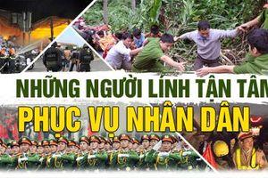 Những người lính tận tâm phục vụ nhân dân