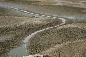 Dự án nạo vét lòng hồ chậm tiến độ khi đơn vị thi công chỉ chăm hút cát