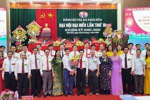 Danh sách Ban Chấp hành Đảng bộ, Ban Thường vụ Thị ủy Thái Hòa nhiệm kỳ 2020 - 2025