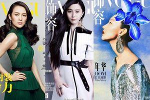 Chỉ có 14 nữ minh tinh Hoa ngữ xuất hiện trên trang bìa của tạp chí Vogue, Châu Đông Vũ là người trẻ nhất