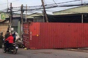 Tin tức tai nạn giao thông ngày 29/7: Thùng container rơi đè chết 1 phụ nữ