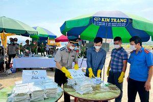 Quảng Ninh: Tiêu hủy 100 bánh heroin tang vật vụ án