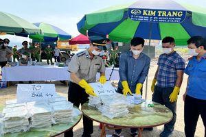 Quảng Ninh tiêu hủy 100 bánh heroin