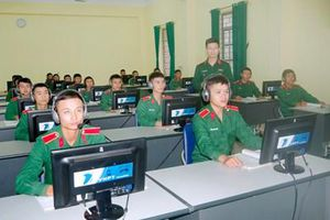 Nhiều biện pháp tích cực dạy và học ngoại ngữ trong các nhà trường quân đội