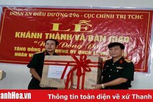 Đoàn An điều dưỡng 296, Cục Chính trị (Tổng cục Hậu cần) bàn giao nhà cho đồng đội khó khăn