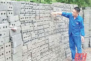 Thanh Hóa: Làm giàu từ sản xuất gạch không nung