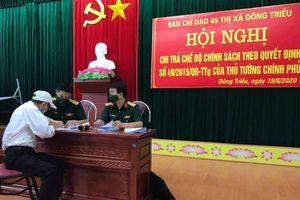 Đông Triều, Hạ Long, Cẩm Phả: Chi trả chế độ theo Quyết định số 49
