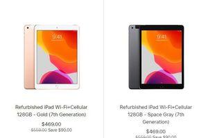 Apple bán iPad 10,2 inch refurbished giảm 90 USD