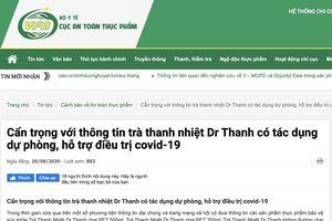 Trà Thanh Nhiệt Dr Thanh bị Bộ Y tế 'tuýt còi' vì quảng cáo có tác dụng hỗ trợ điều trị COVID-19