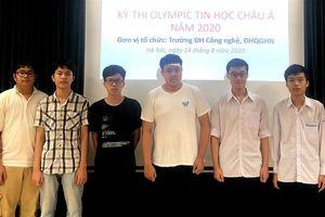 Tất cả học sinh đội tuyển Olympic Tin học Châu Á Việt Nam đều giành huy chương