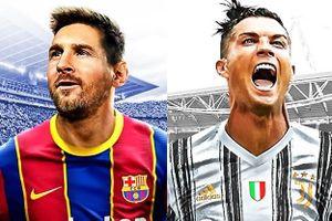 Messi, Ronaldo cùng xuất hiện trên hình nền PES 2021
