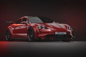 Mẫu xe điện thể thao Porsche Taycan có phiên bản độ ngoại thất thể thao thân rộng
