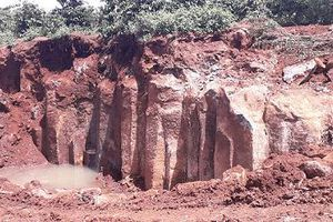 Gia Lai: Phát hiện điểm khai thác đá trái phép quy mô lớn