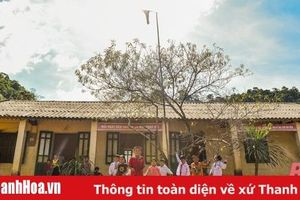 Điểm trường bản Mông trước ngày khai giảng