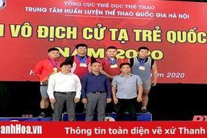 Thanh Hóa tặng thưởng cho các VĐV tại Giải Vô địch Wushu và Vô địch Cử tạ trẻ 2020