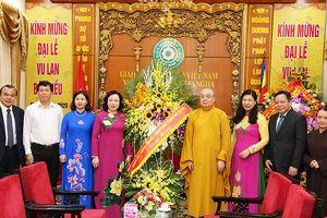 Lãnh đạo Thành phố chúc mừng Trung ương Giáo hội Phật giáo Việt Nam