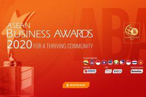 Giải thưởng Doanh nghiệp ASEAN 2020 tôn vinh những giá trị đáng quý nhất của doanh nghiệp ASEAN