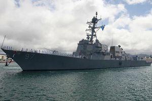 Tàu chiến Mỹ qua eo biển Đài Loan, tiến vào Biển Đông