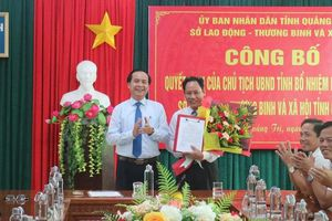 Sở LĐ-TB&XH Quảng Trị có Phó Giám đốc mới