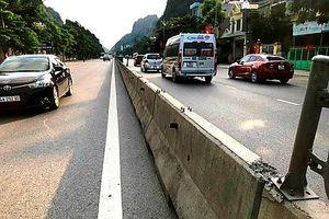 Mất cắp hệ thống lưới chống chói trên Quốc lộ 18 đoạn Hạ Long - Mông Dương