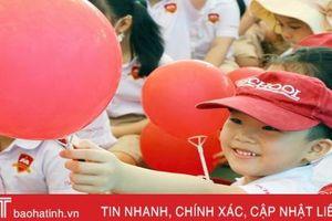Học sinh iSchool Hà Tĩnh hào hứng với tiếng trống hội khai trường