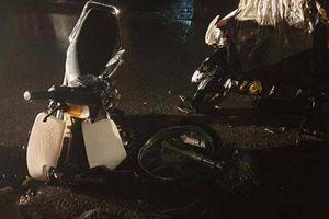 Xe máy gãy lìa sau tai nạn, người đàn ông nghi say rượu bỏ hiện trường