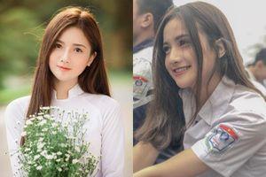 Nữ sinh Hà Nam diện áo dài trắng tinh khôi 'gieo thương nhớ'