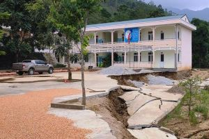 Thanh Hóa: Học sinh phải sơ tán vì trường sụt lún