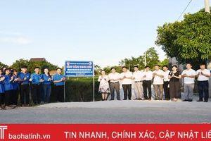 Gắn biển công trình chào mừng thành công Đại hội Đảng bộ huyện Lộc Hà
