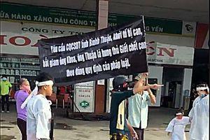 Bình Thuận: Vợ con người bị truy sát đeo khăn tang đi kêu cứu