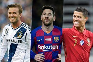 Beckham, Messi, Ronaldo và top cầu thủ kiếm nhiều tiền nhất 10 năm qua