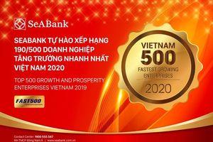 SeABank tăng hạng vượt bậc, đứng 190/500 trong BXH FAST500
