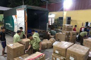 Sử dụng dịch vụ chuyển phát nhanh gửi hàng nghìn sản phẩm nghi nhập lậu