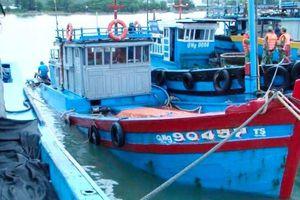 Quảng Ngãi: Một tàu cá bị chìm do ảnh hưởng bão số 5