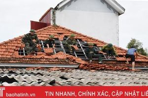Lộc Hà, Nghi Xuân tích cực khắc phục hậu quả lốc xoáy
