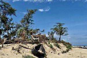 Thừa Thiên-Huế: Bờ biển tiếp tục sạt lở nặng sau bão số 5