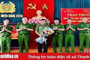 Thưởng nóng 40 triệu đồng cho Công an huyện Quảng Xương