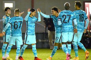 Liverpool thắng lớn, Man City nhọc nhằn vượt ải League Cup