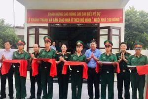 Khánh thành và bàn giao 'Ngôi nhà 100 đồng' tặng Thượng úy QNCN Ngô Minh Sáng