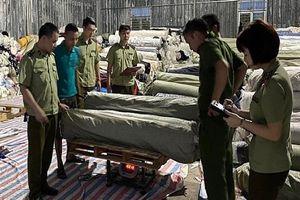 Hưng Yên: Bắt giữ gần 84 tấn vải cuộn lậu
