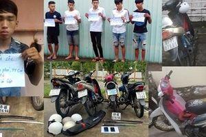 Nhóm thiếu niên gây 10 vụ cướp trên QL61C