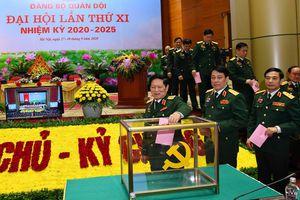 Đại hội Đảng bộ Quân đội: Bầu 43 đại biểu chính thức dự Đại hội Đảng toàn quốc