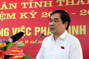 HĐND tỉnh Thái Bình họp giải quyết công việc đột xuất