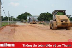 Đẩy nhanh tiến độ thi công tuyến đường phường Đông Cương nối xã Thiệu vân