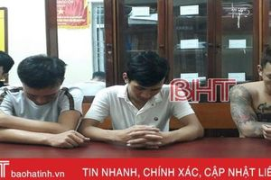 4 đối tượng 'đập đá' trong đêm ở phố biển Lộc Hà