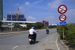 Từ ngày 3-10, cấm xe lưu thông qua cầu vượt Nguyễn Hữu Cảnh
